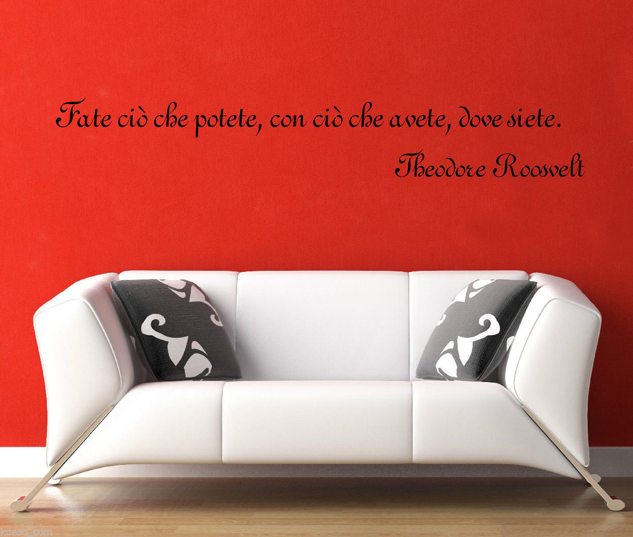 """Wall stickers adesivi murali """"theodore roosvelt&#034 ..."""