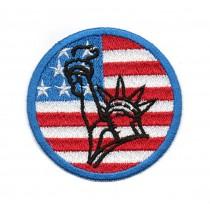 Bandiera America con Statua...