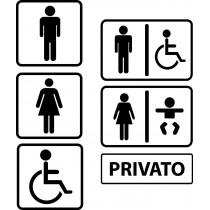 Adesivo per porta del bagno UOMO DONNA TOILETTE UFFICIO NEGOZIO