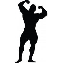 Adesivo Bodybuilder Culturista