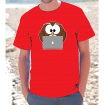 Maglietta Gufo Computer Mac
