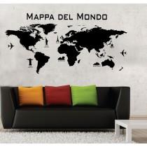 Mappa del Mondo con monumenti
