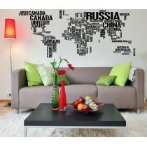 Mappa del Mondo Lettere...