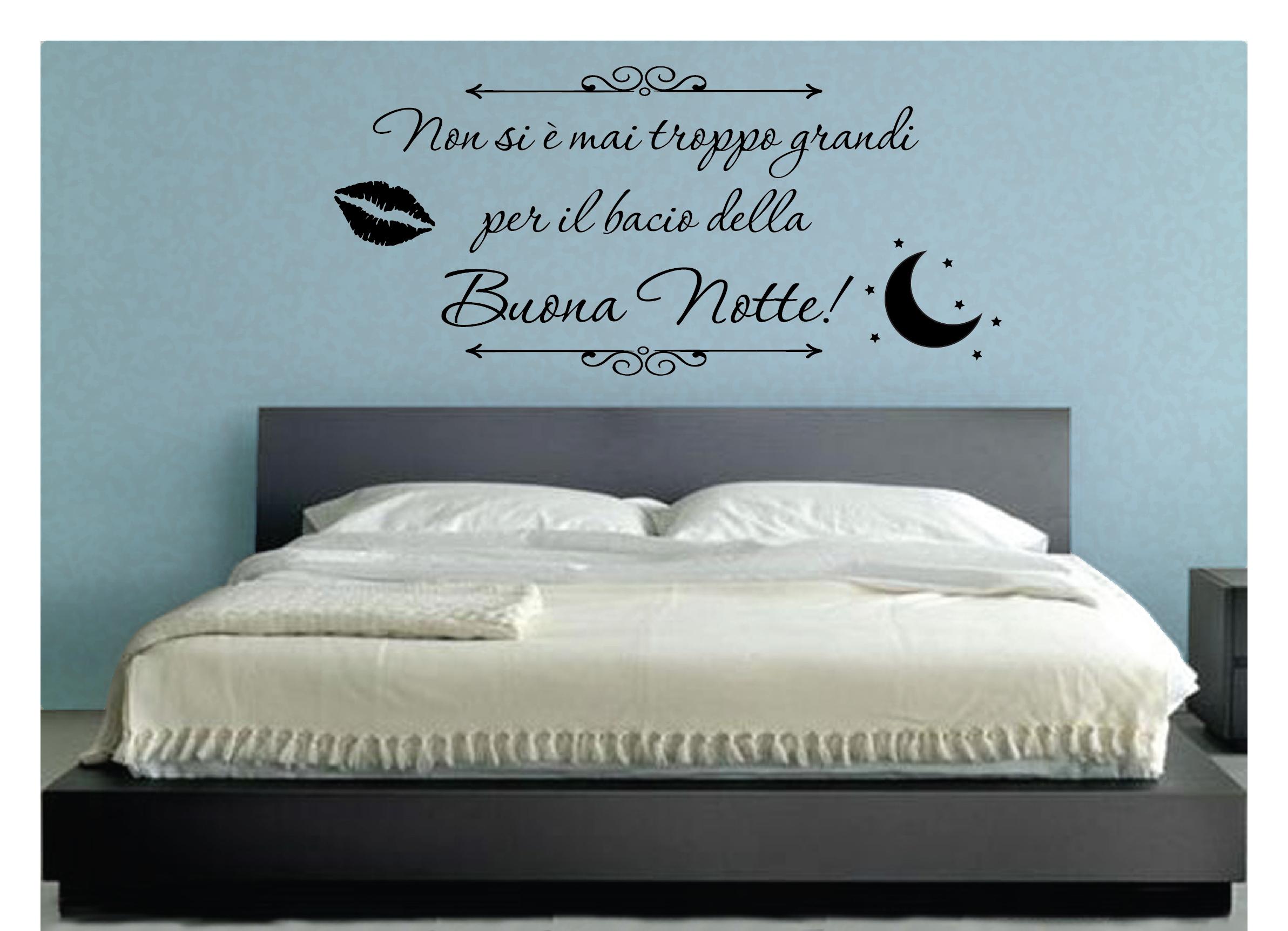 Wall stickers murali bacio della buona notte famiglia casa adesivo love amore ebay - Dipinti camera da letto ...