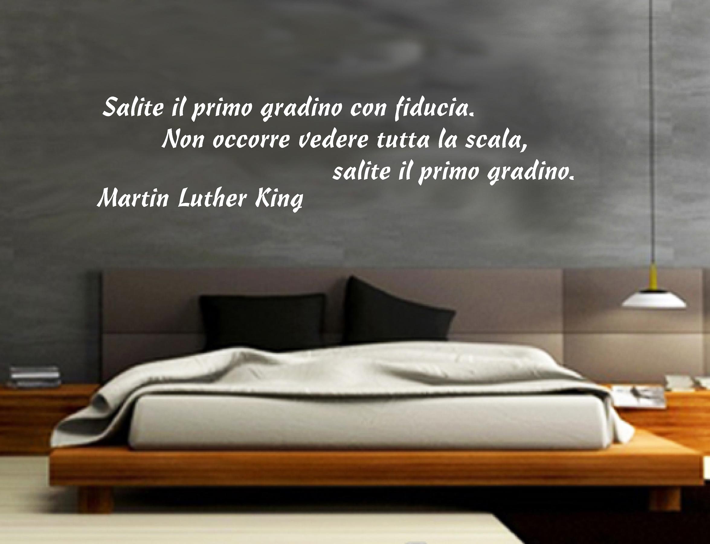 Wall stickers adesivi murali martin luther king aforismi - Adesivi parete camera da letto ...