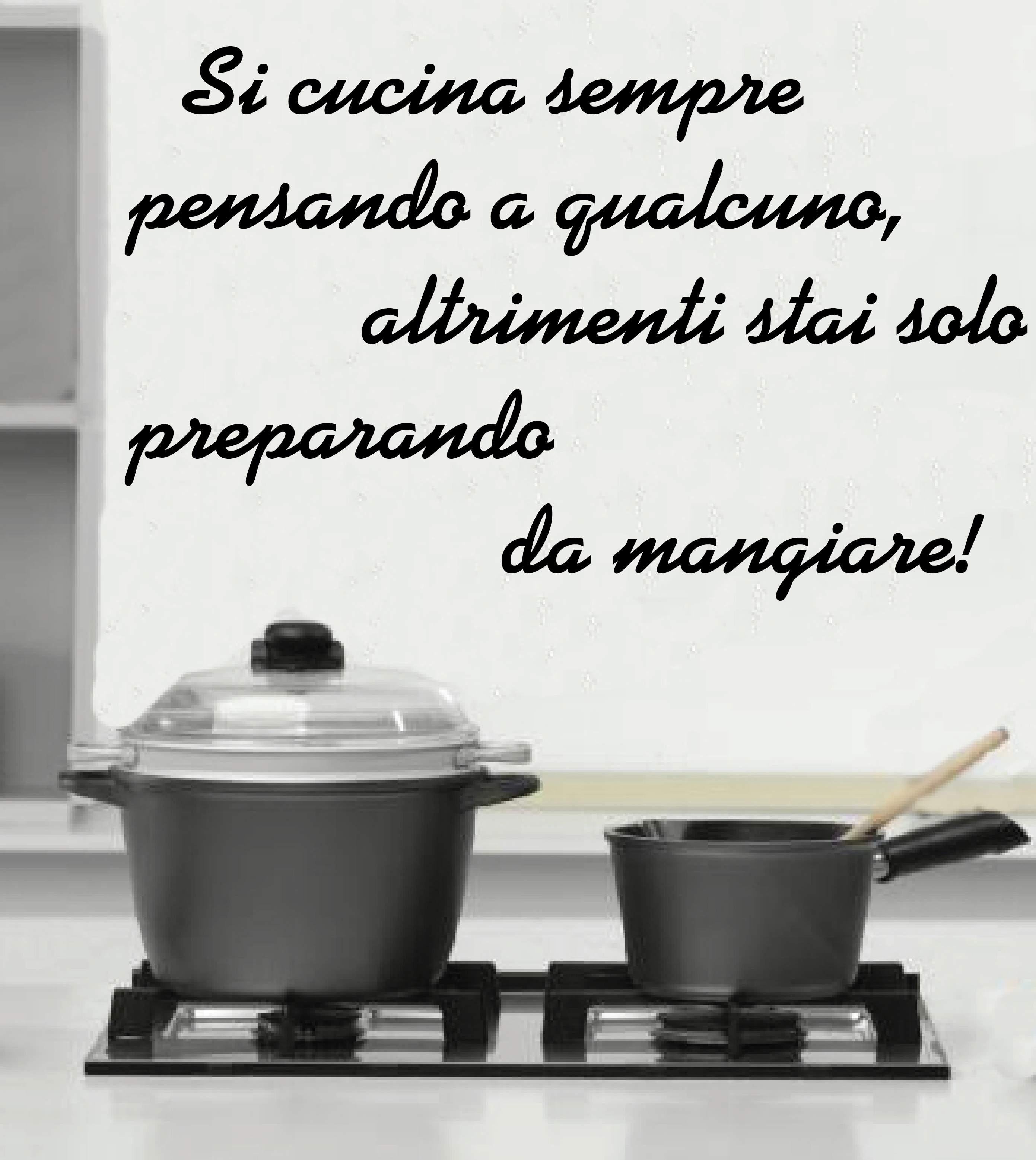 WALL STICKERS ADESIVI MURALI Frase Si cucina Sempre cucinare Amore ...